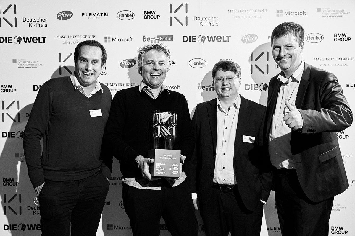 Glückliche Sieger beim deutschen KI-Preis